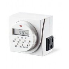 Dual Outlet Programmable Weekly Digital Timer